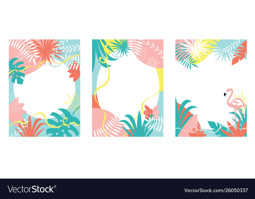 Collection floral abstract backgrounds