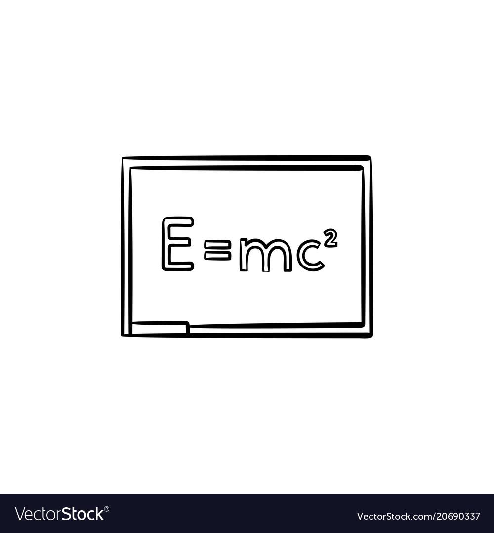 E equal mc 2 hand drawn sketch icon