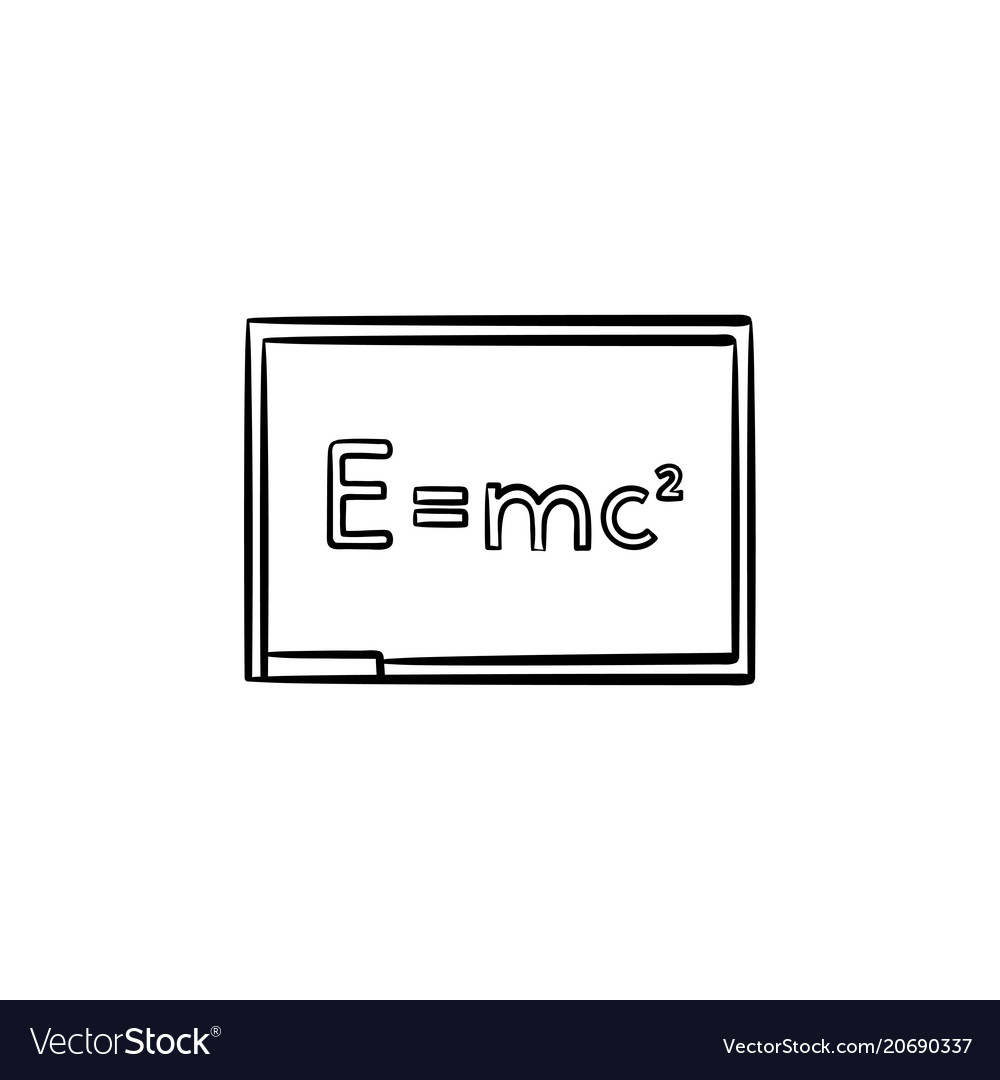 E equal mc 2 hand drawn sketch icon vector image