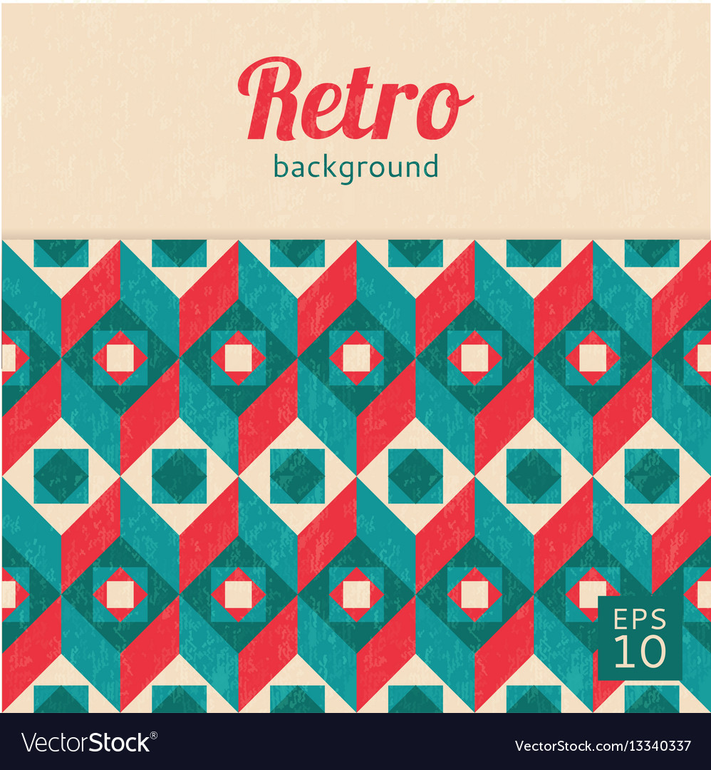 Geometric abstract background retro style