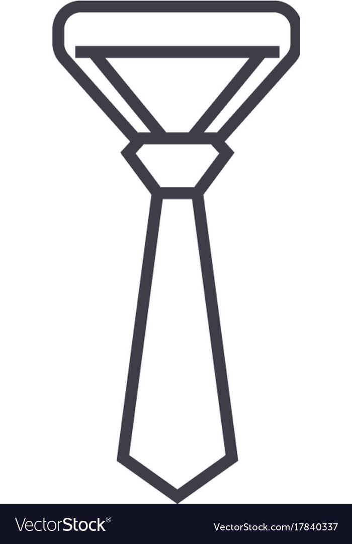 Necktietie line icon sign