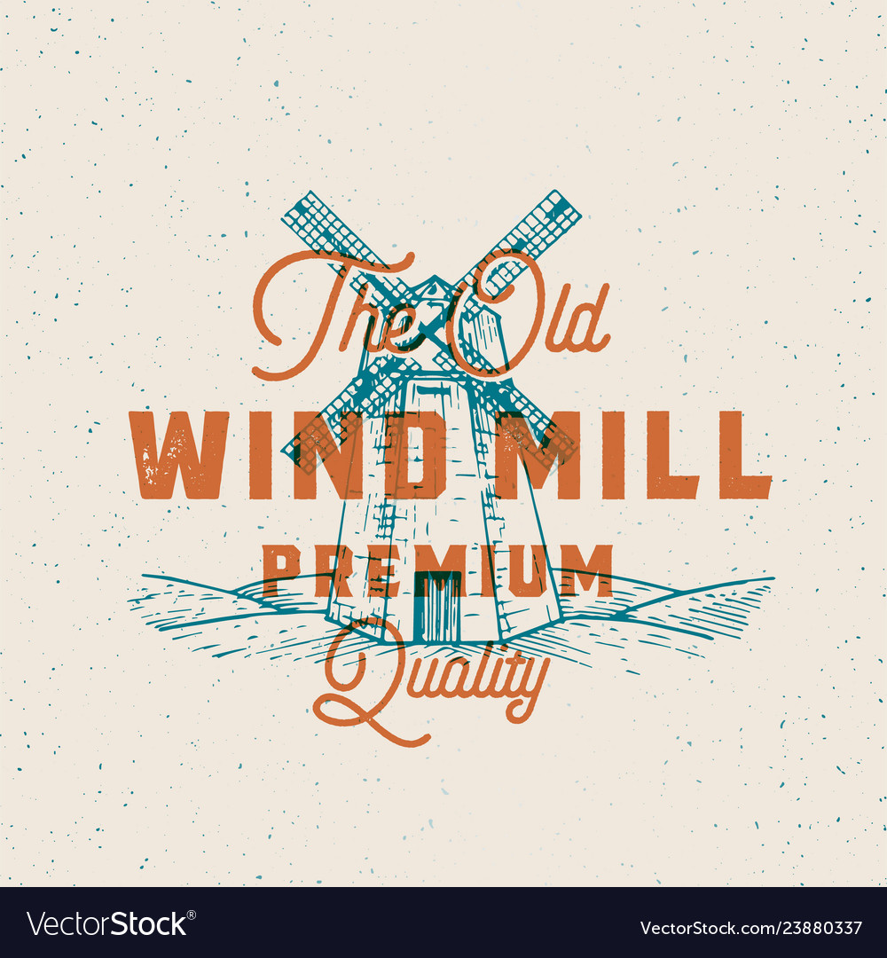 Old windmill abstract sign symbol or logo