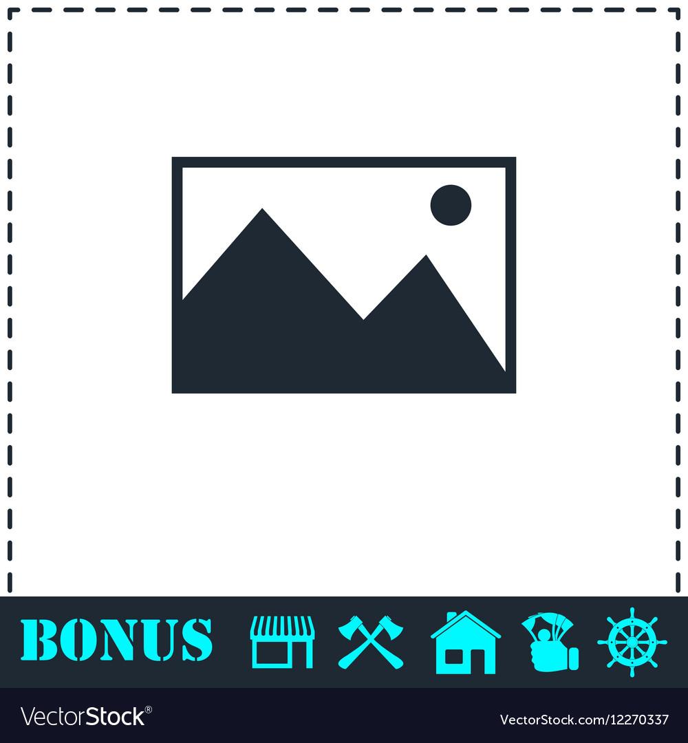 Photograph icon flat