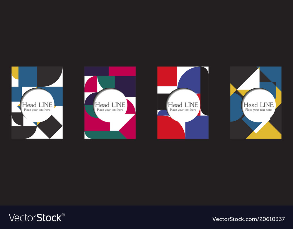 Retro geometric covers design eps10