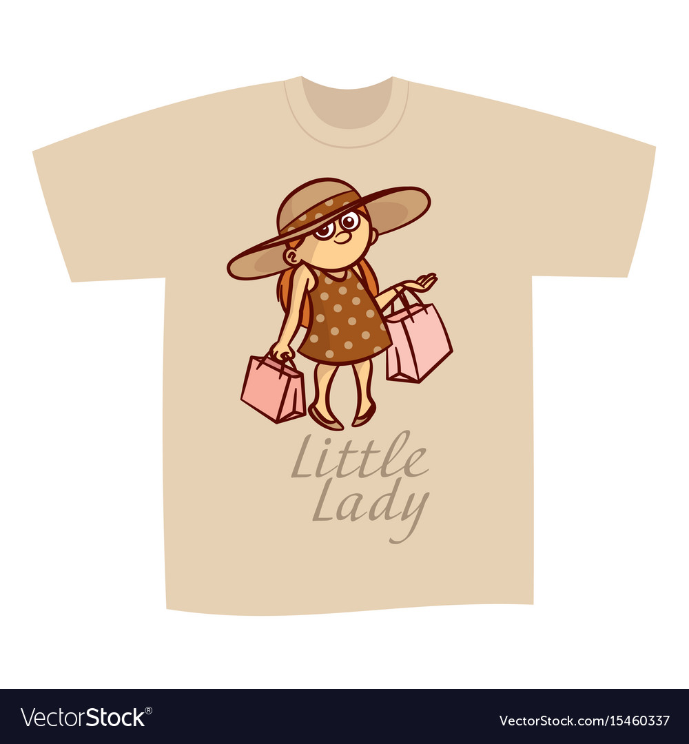 93f1b29303d91 T-shirt print design little lady