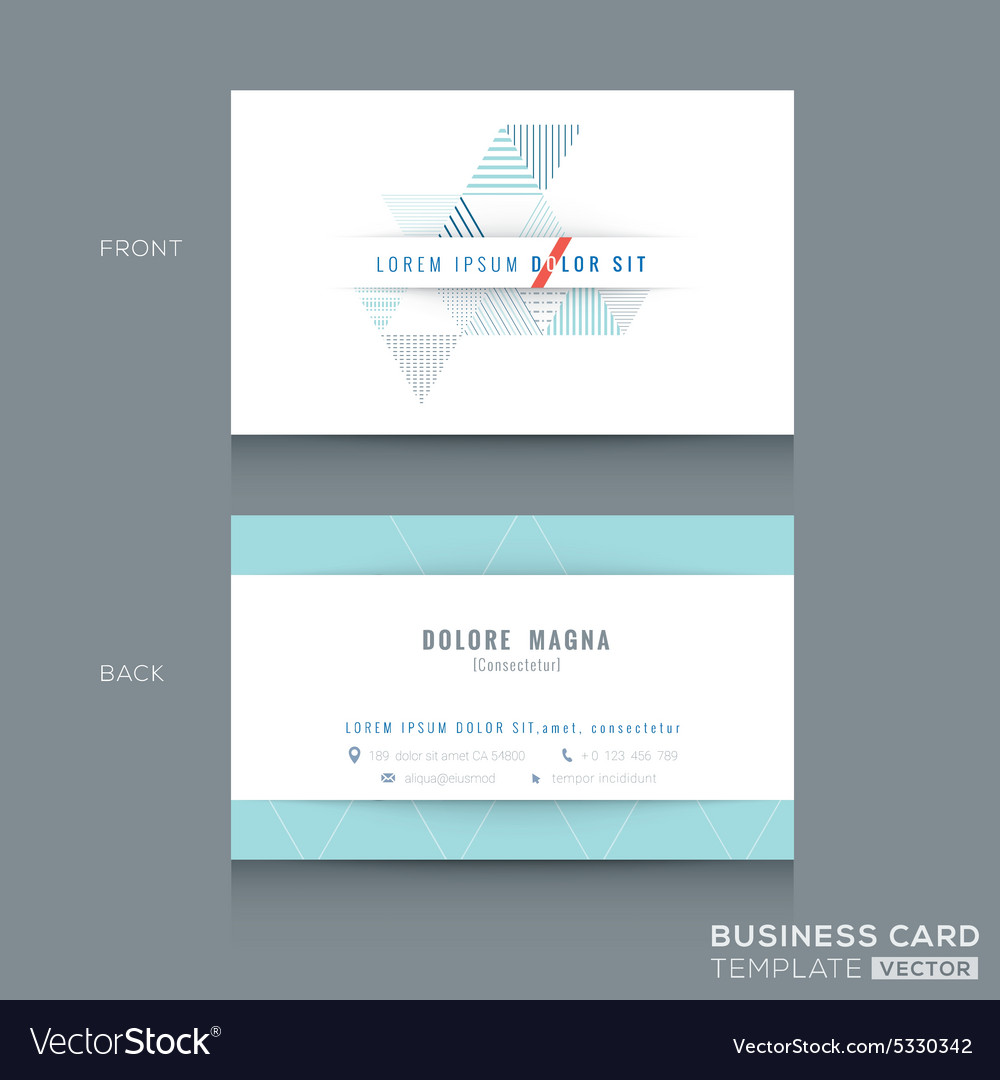 Abstract triangle stripe shape business card Vector Image