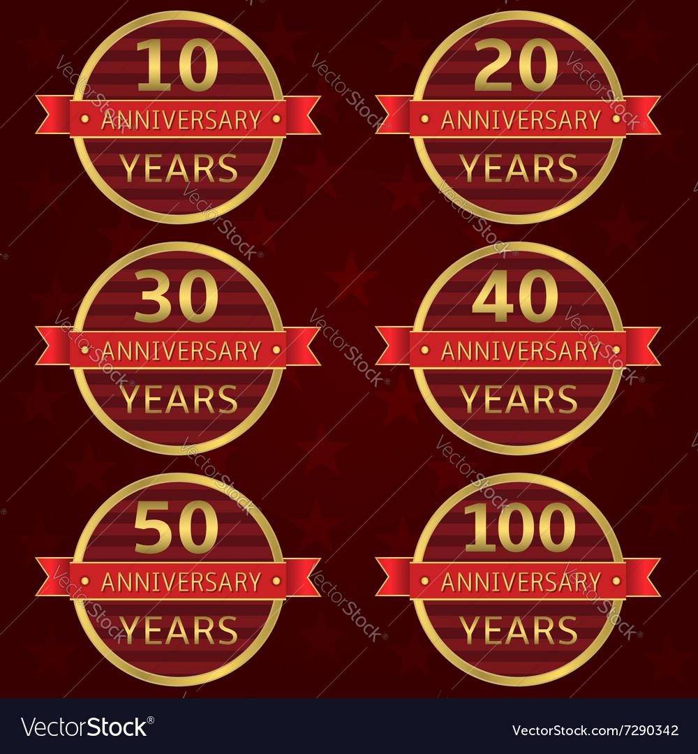 Anniversary label set