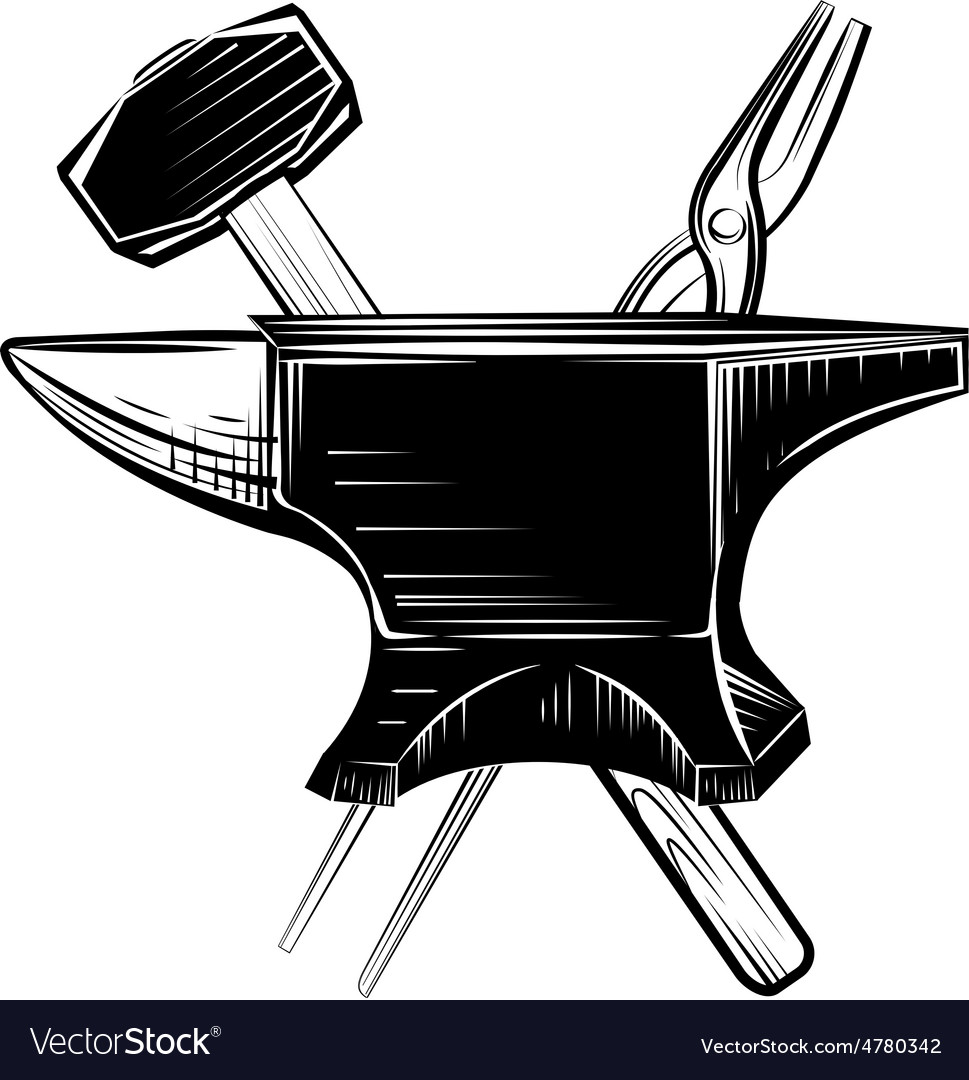 Blacksmith anvil on white background