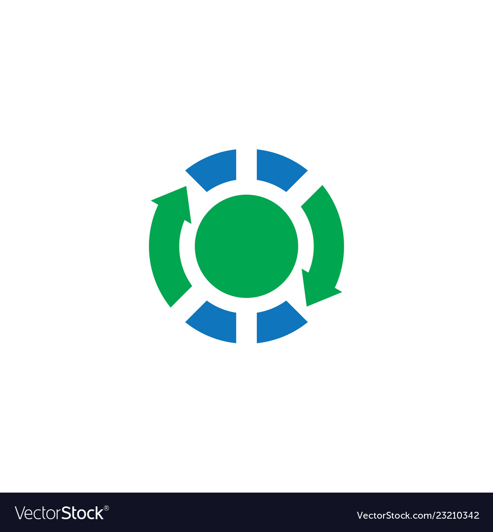 Circle arrow business finance