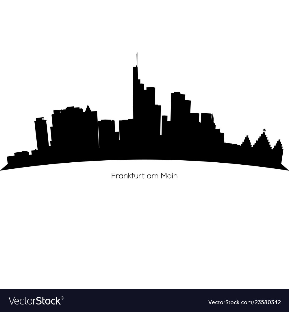 Detailed frankfurt am main skyline