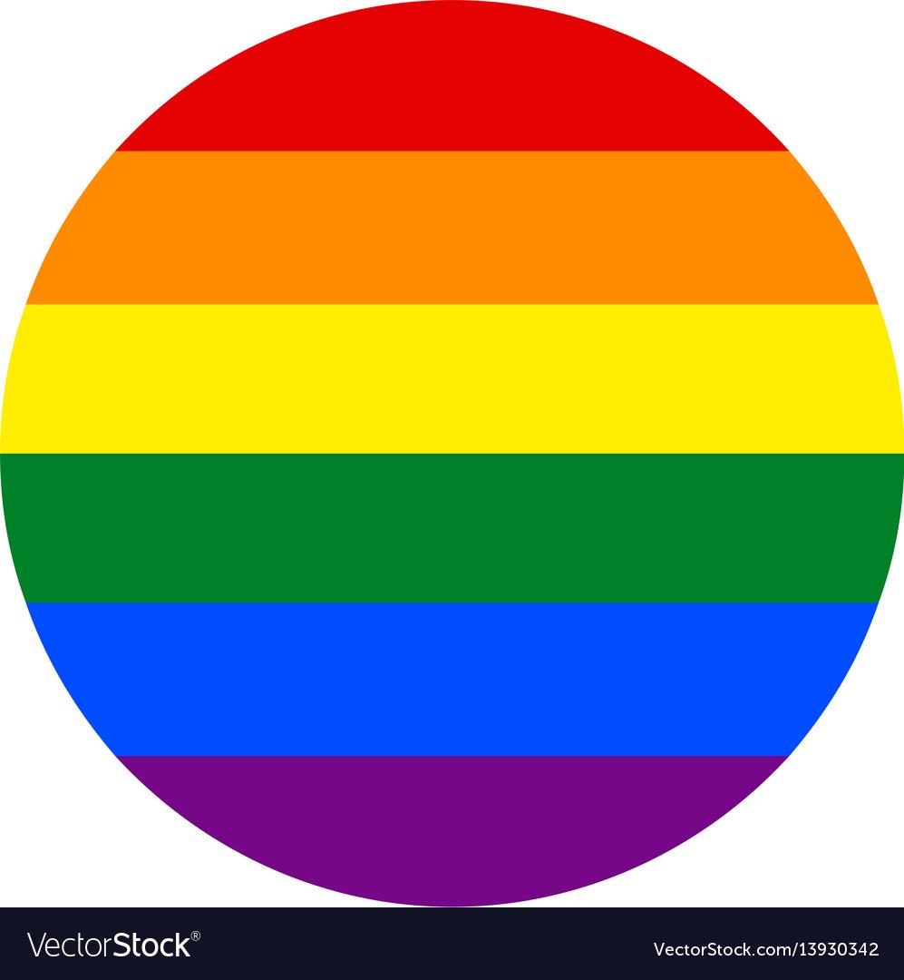 Rainbow flag in circle shape