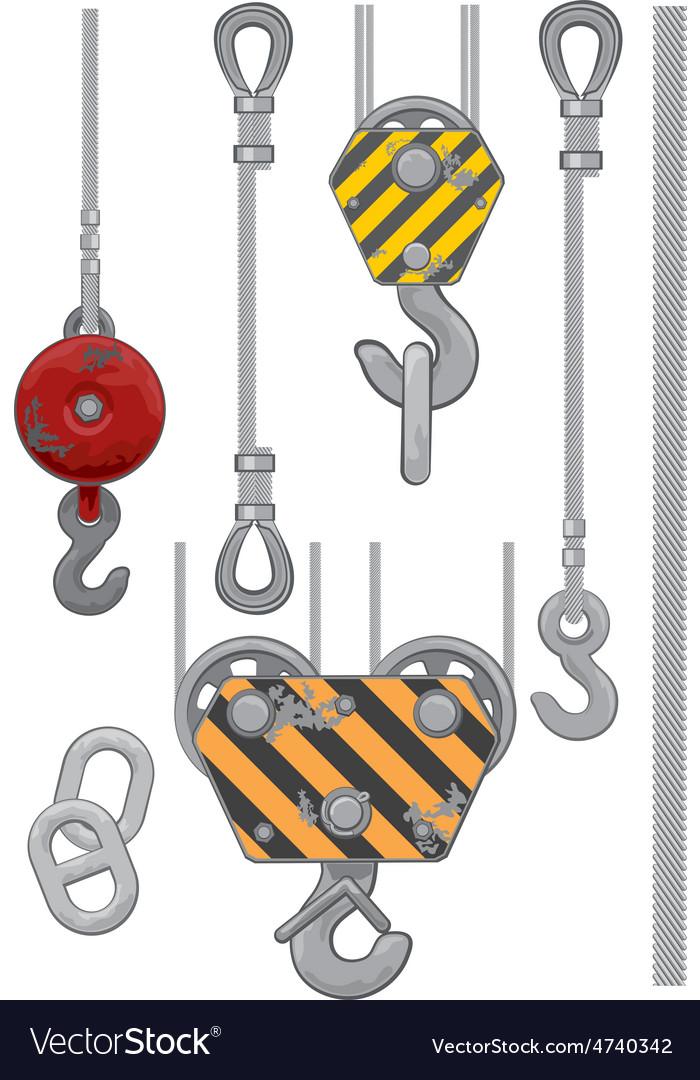Set of slings vector image