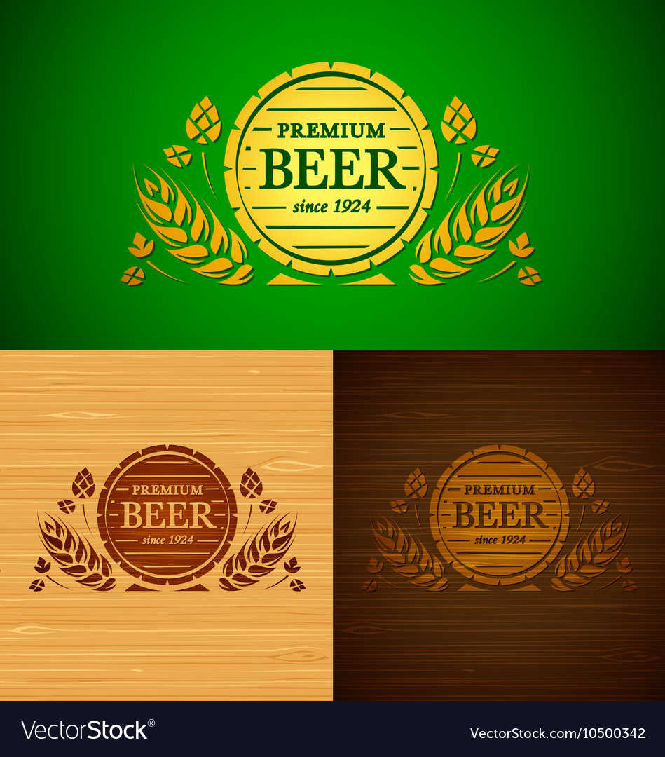 Set of templates beer emblem