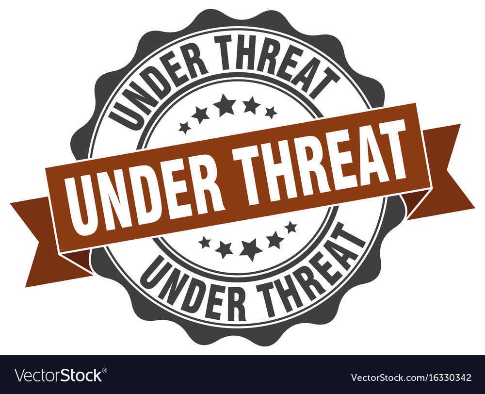 Under threat stamp sign seal vector image