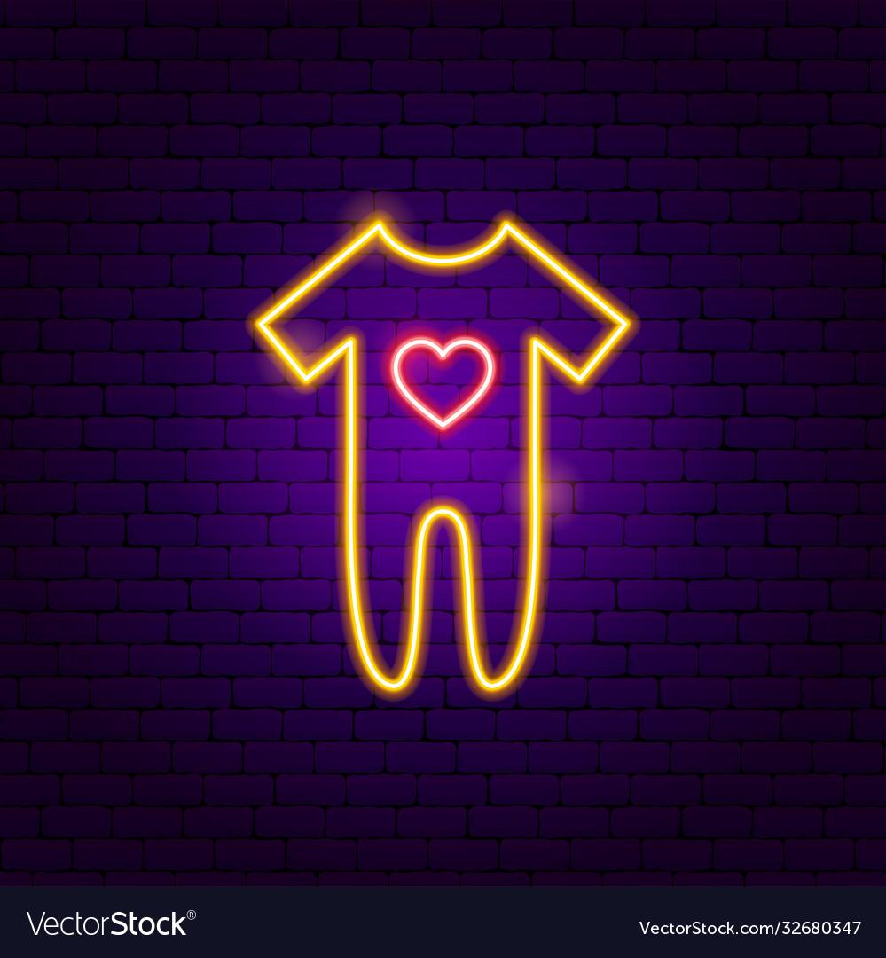 Baromper suit neon sign