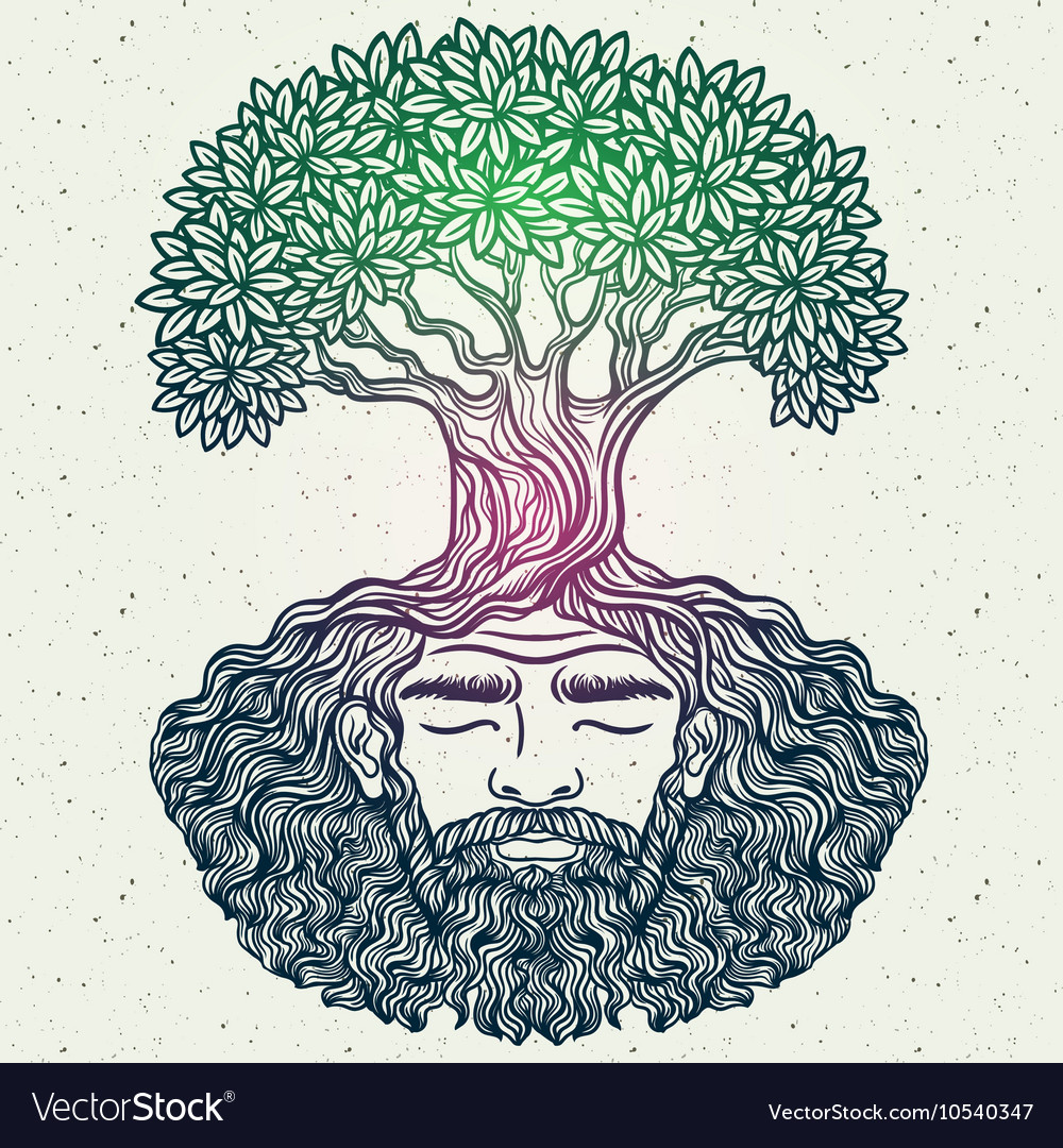 Bearded man protect the environment