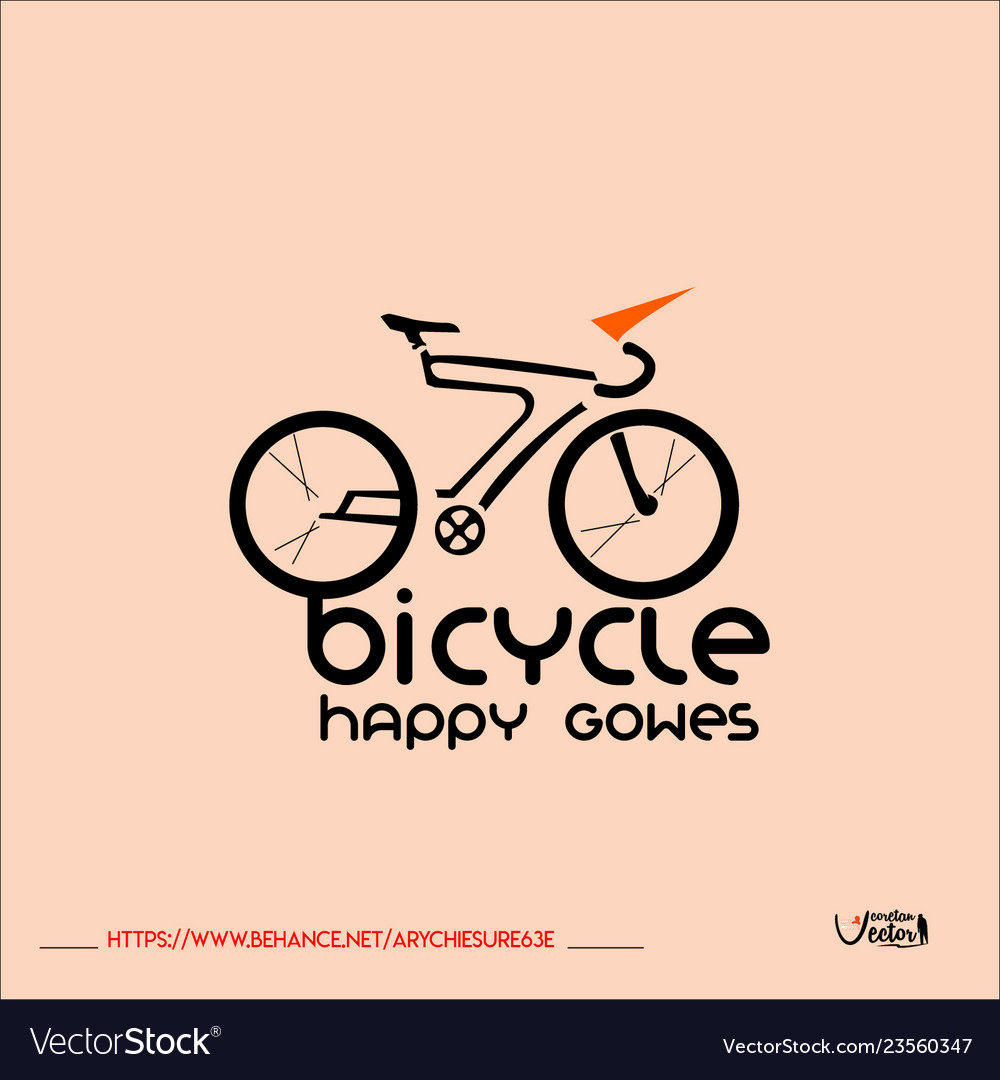 Bicycle-logo vector image