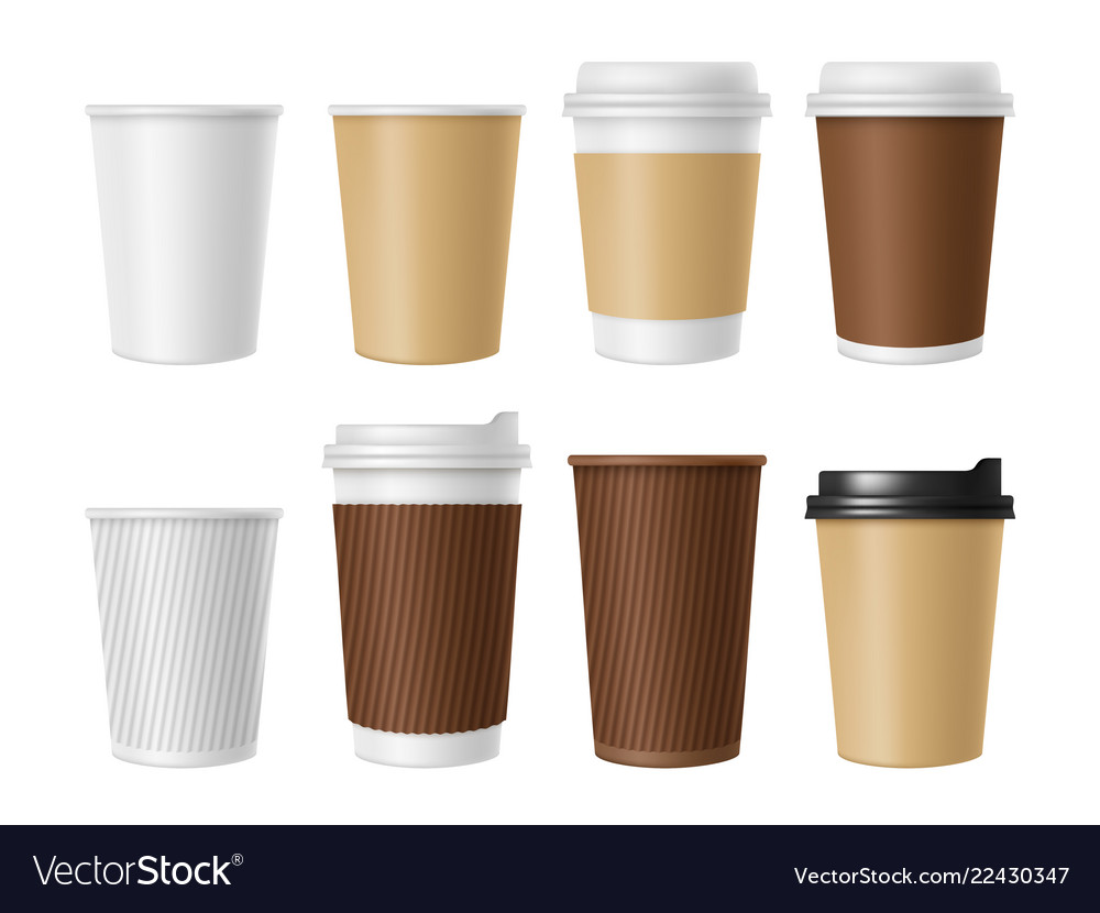 Disposable coffee cup blank template