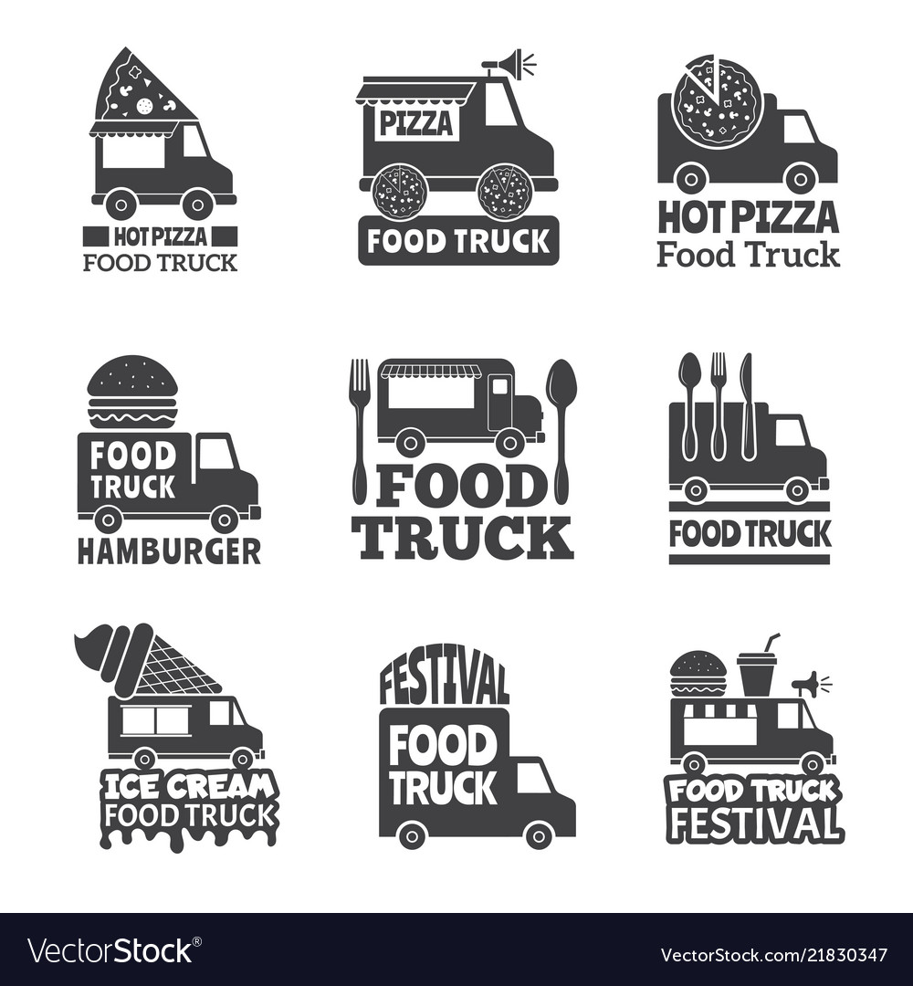 Food truck car street catering fast delivery