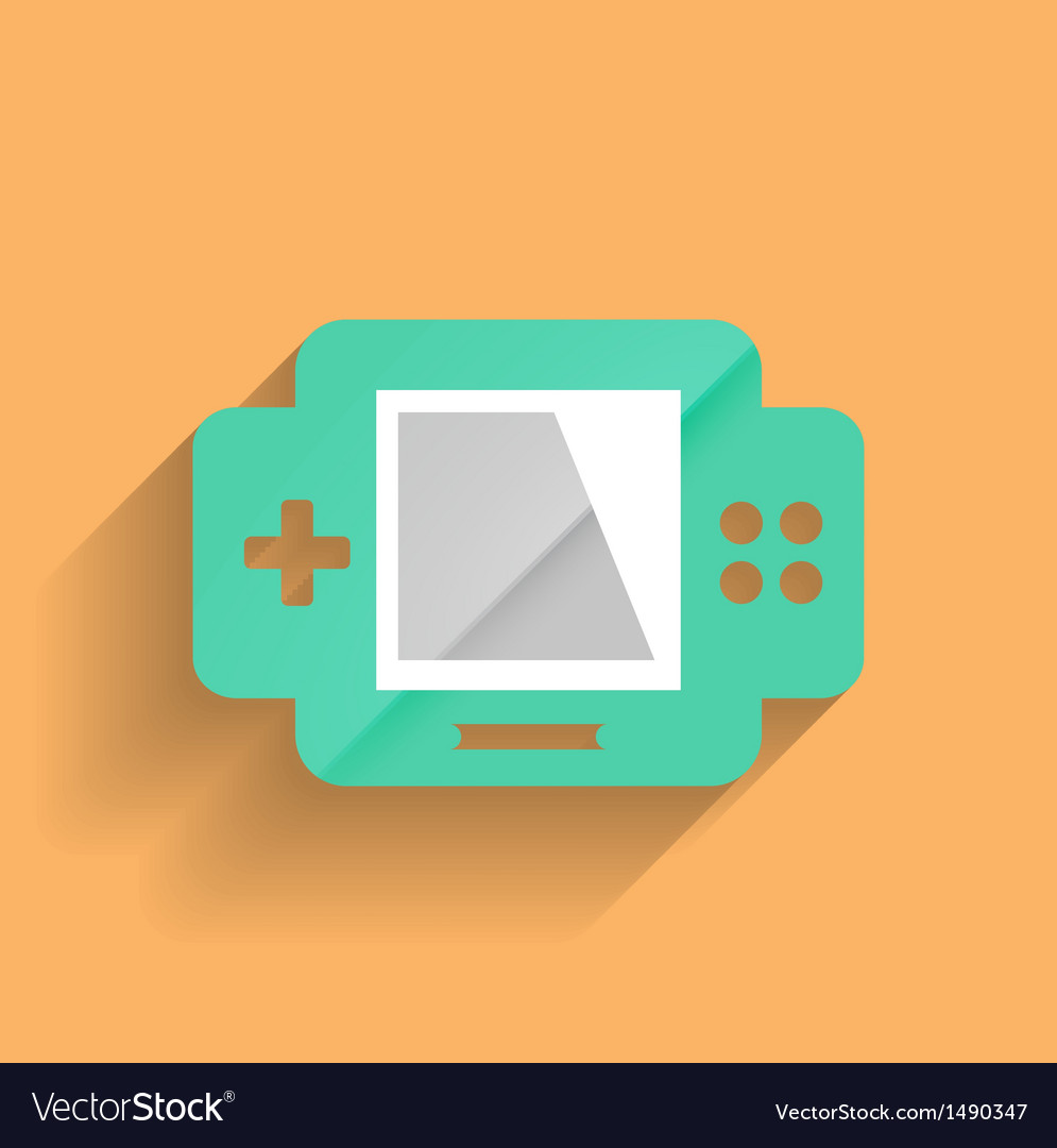 Games console flat modern design vector image