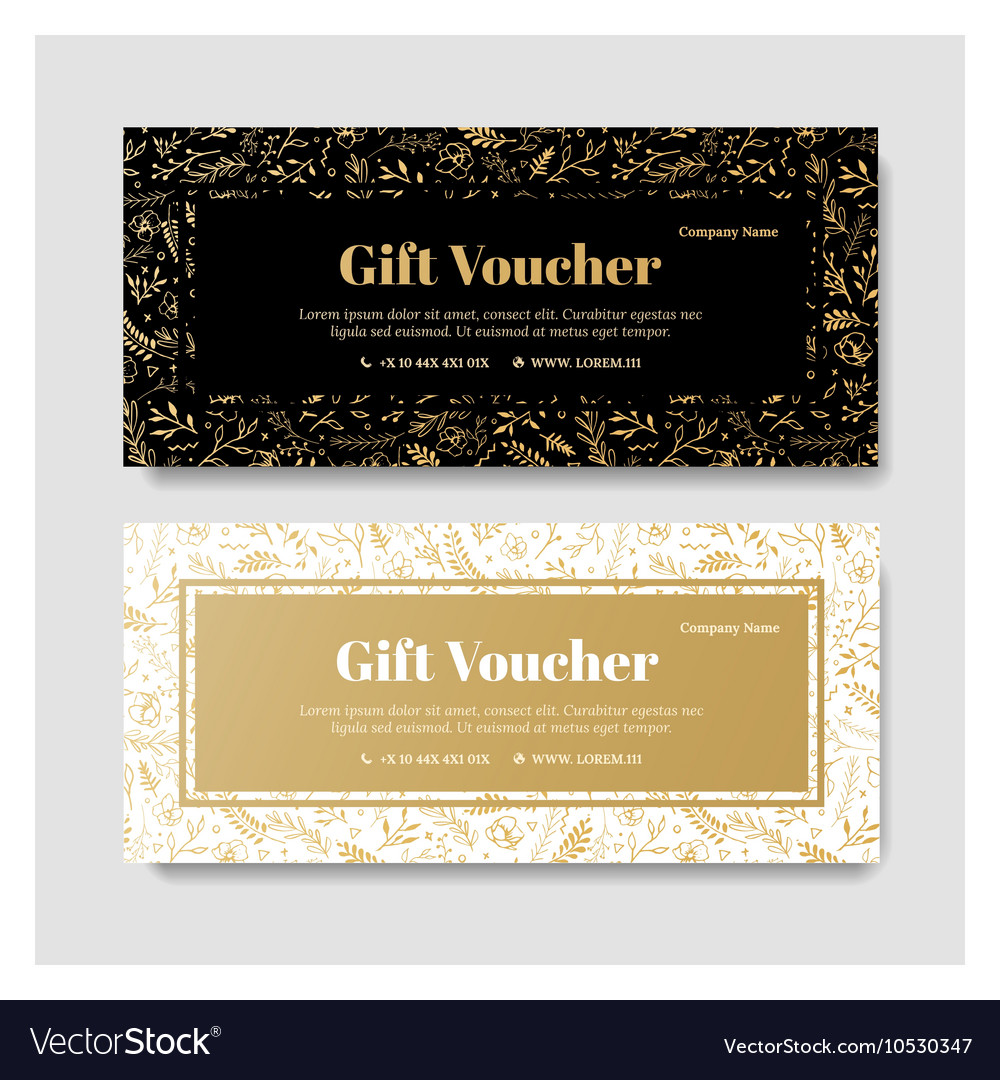 Gift Premium Voucher Coupon Template Royalty Free Vector