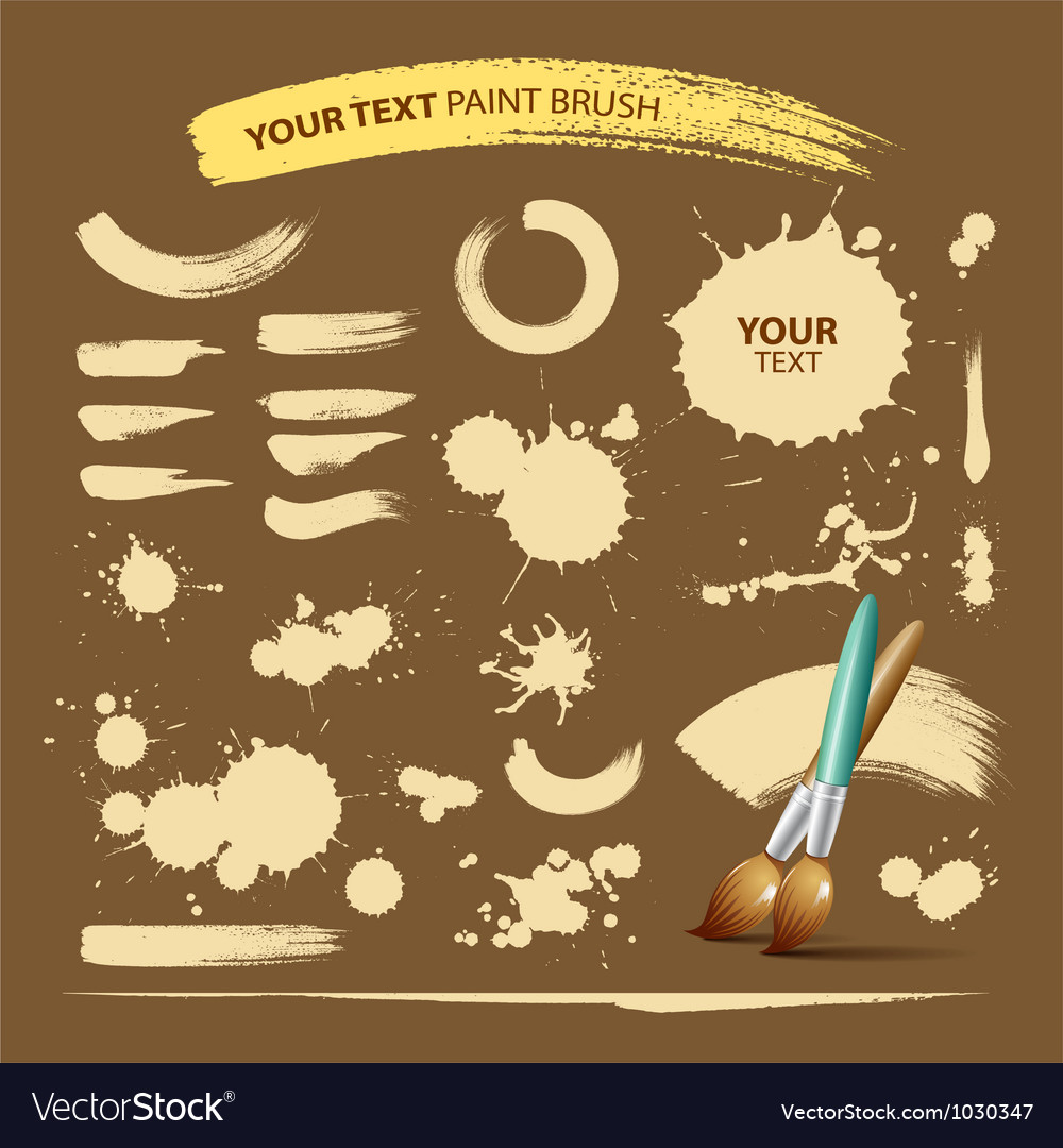 Paint Brush Vintage Ink Texture Background Vector Image