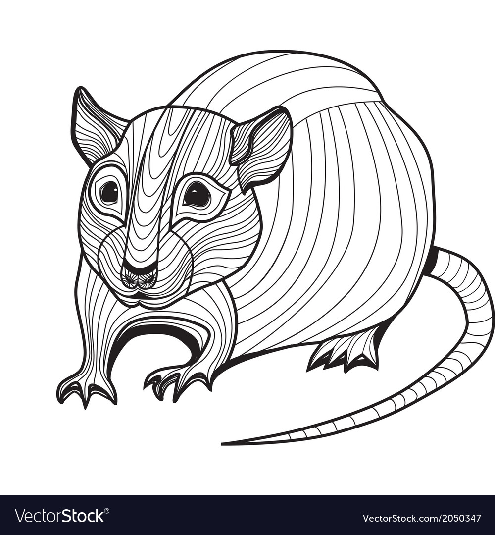 Rat or mouse head animal vector image