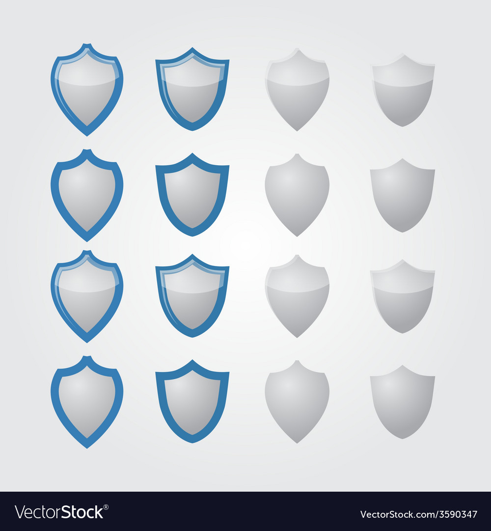Set of modern shields
