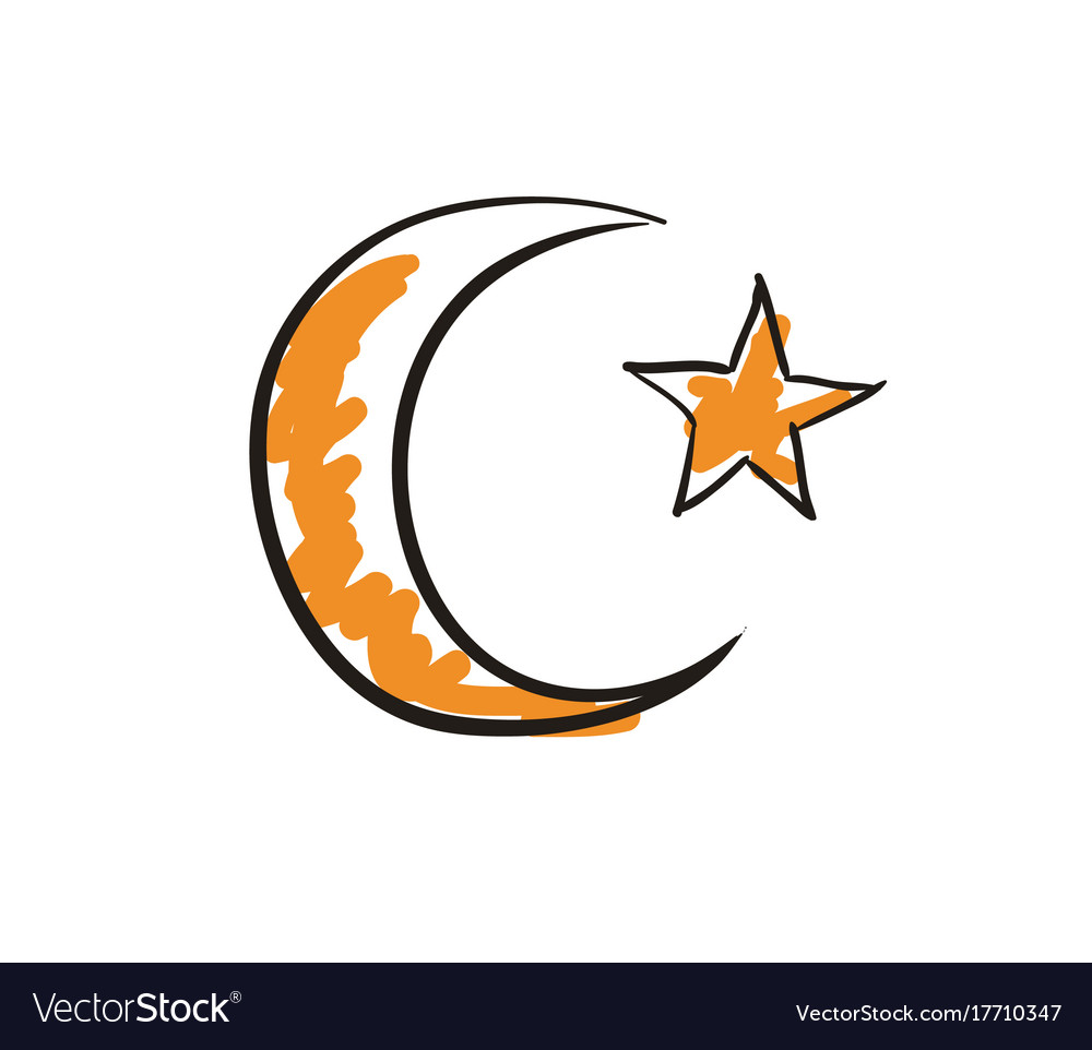 Star and crescent islamic symbol