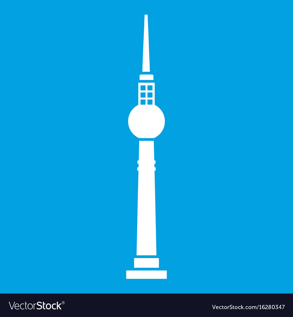 Tower icon white vector image