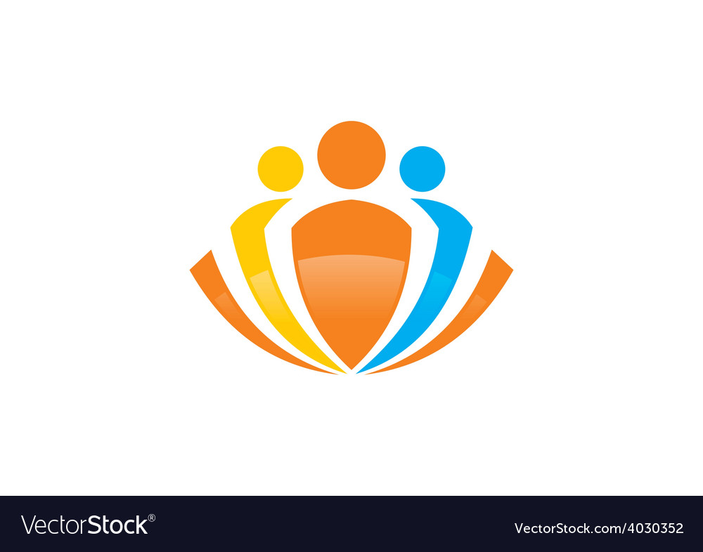 Abstract people group logo