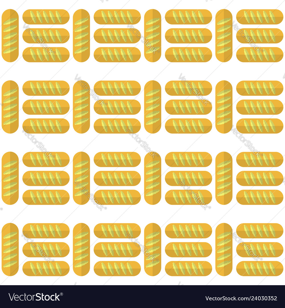 Bakery seamless pattern food background baked