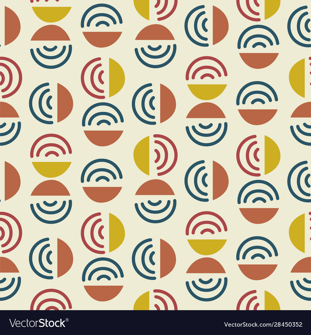 Circle and line shapes abstract modern seamless