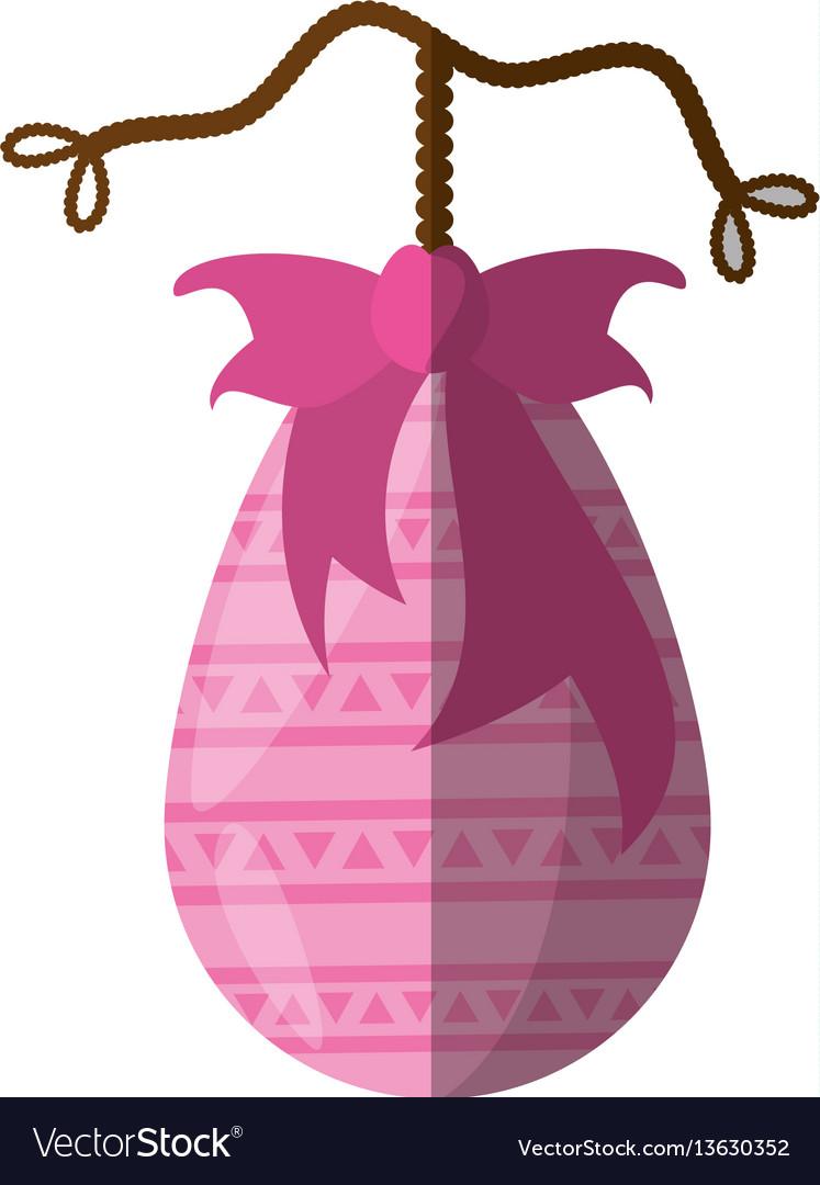 Easter pink egg bow decoration hang