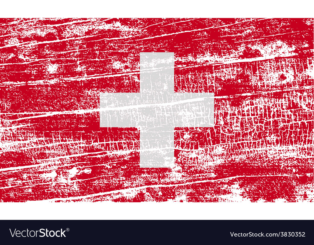 Flag of Switzerland with old texture