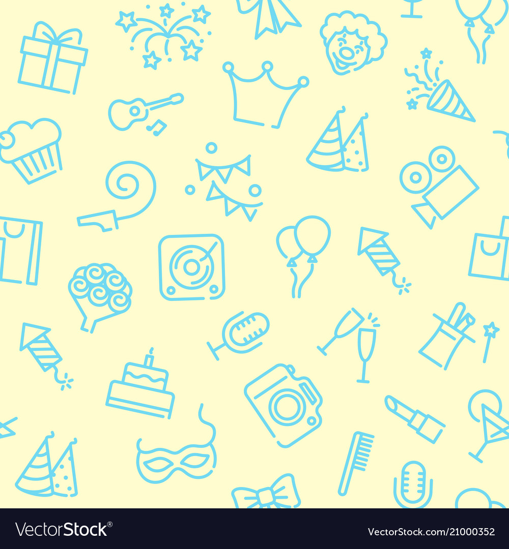 Linear birthday seamless background