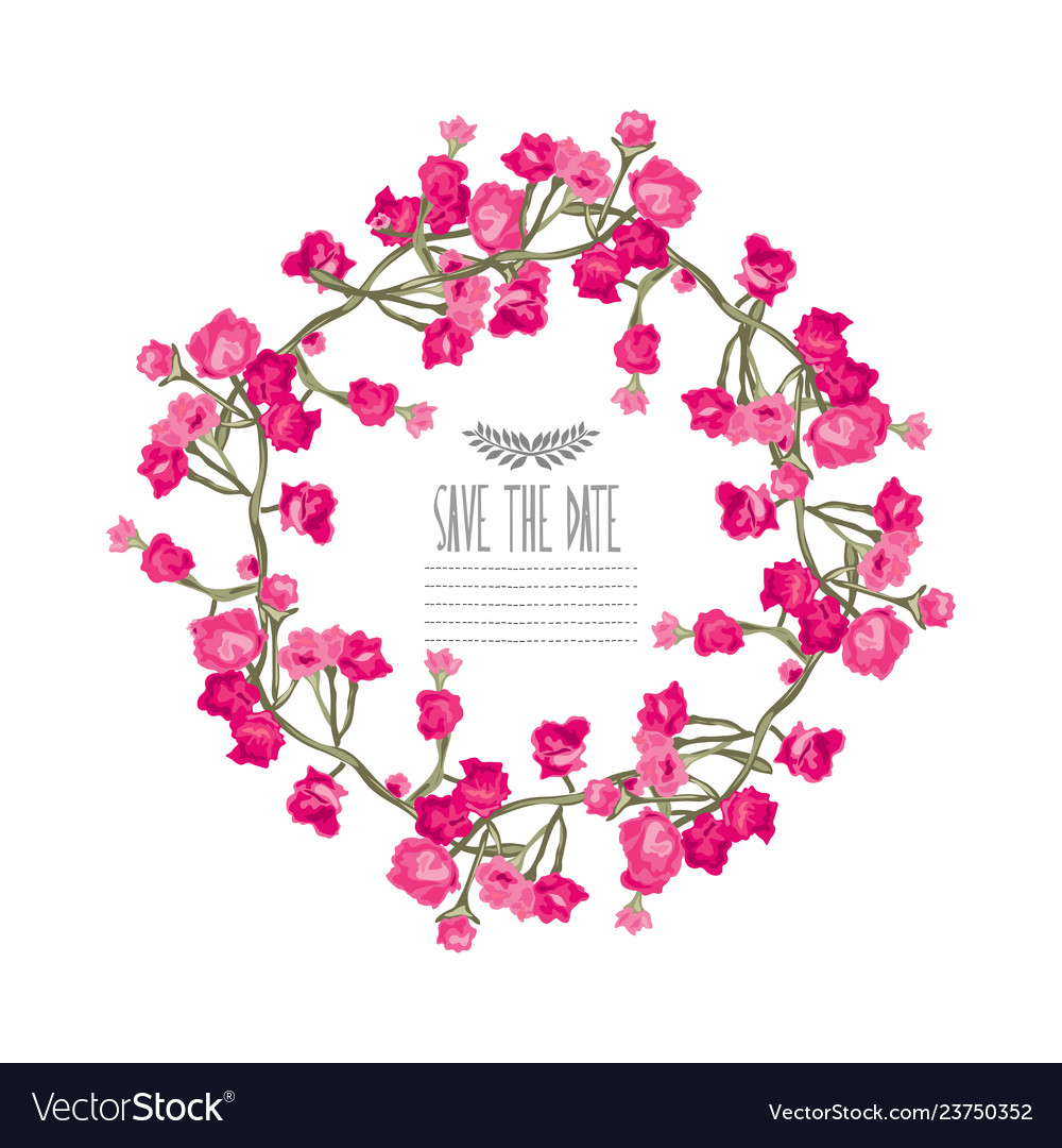 Roses floral wreath