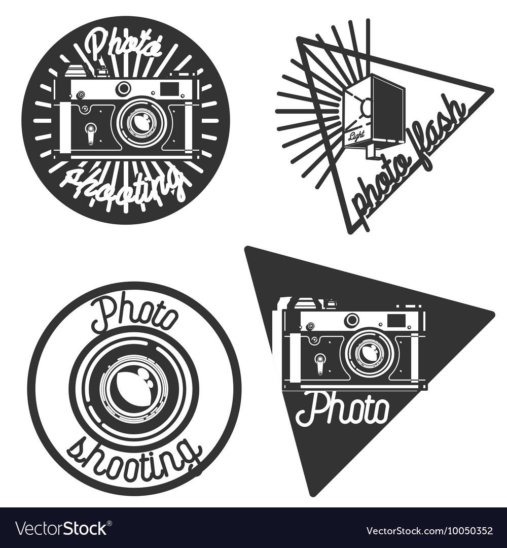 Vintage photographer emblems