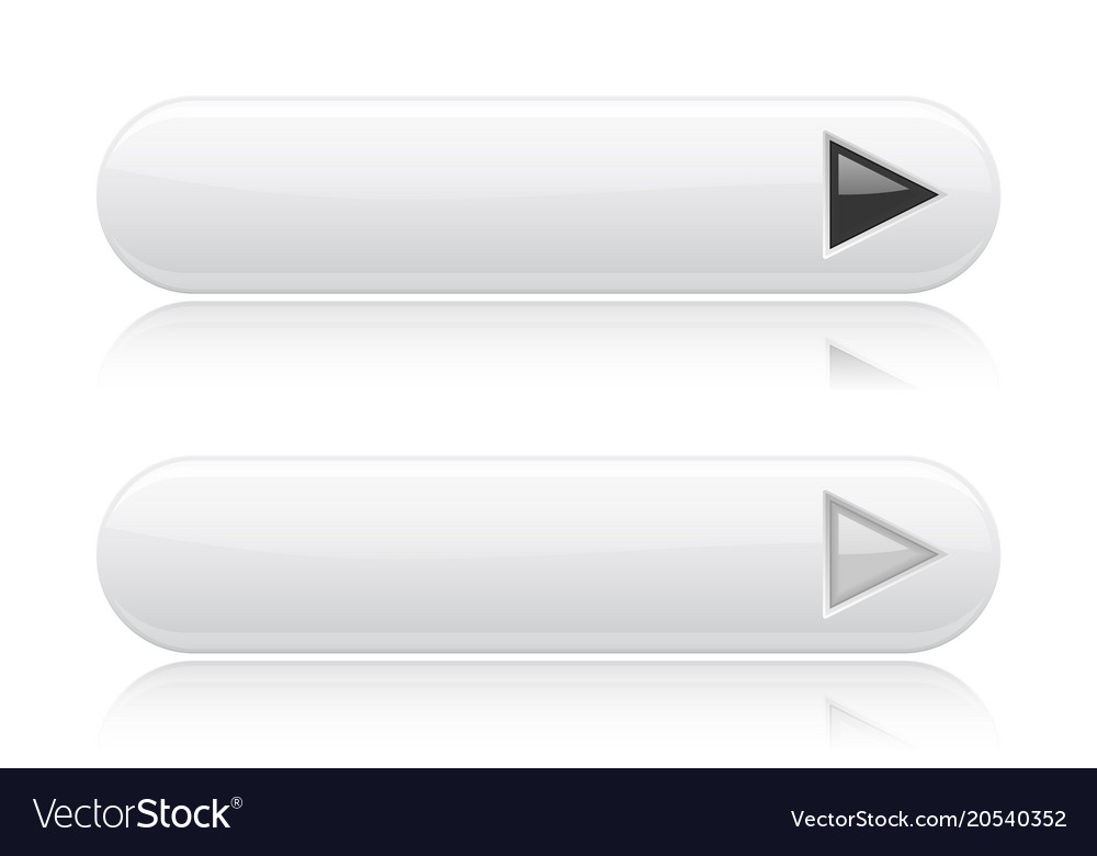 White oval buttons with black and white arrows vector image