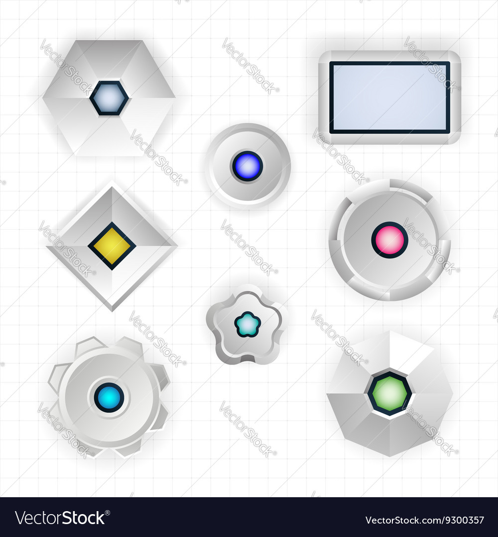 Abstract futuristic geometric shapes vector image