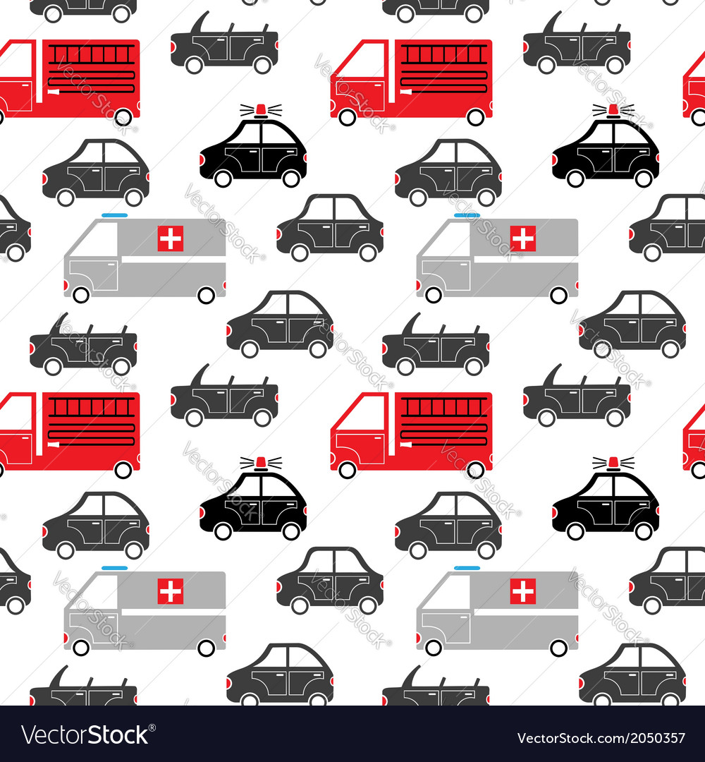 City car seamless pattern