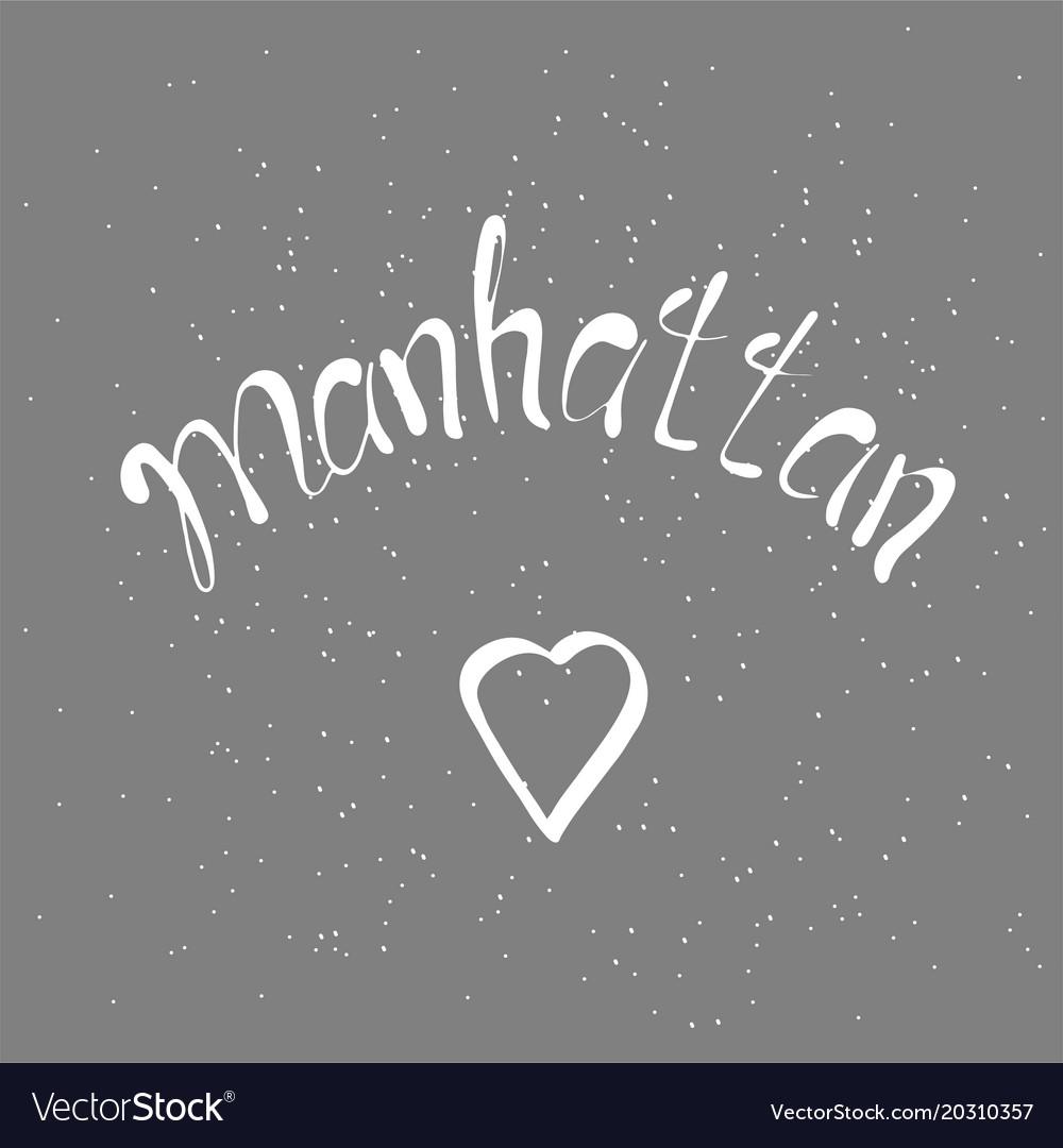 Manhattan text vintage retro lettering design