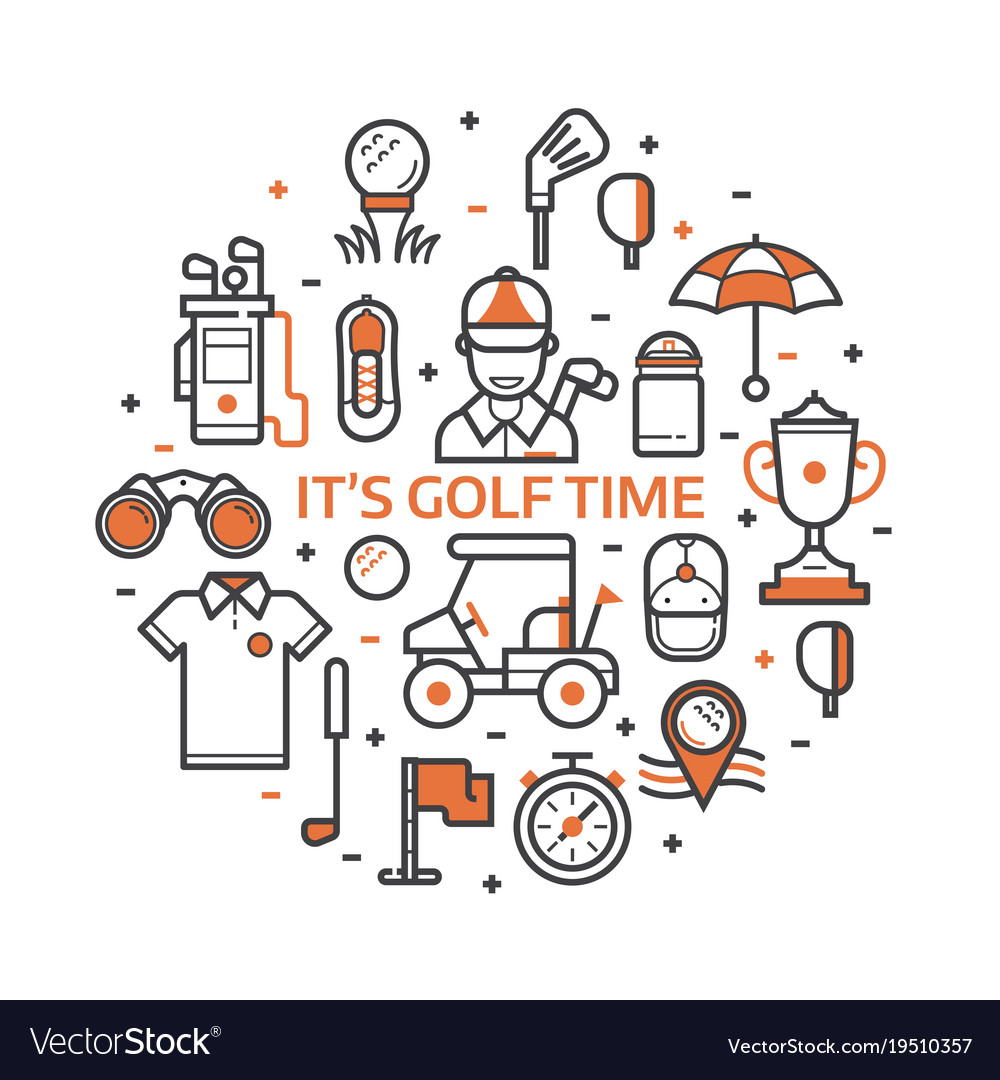 Play golf print with golf icons