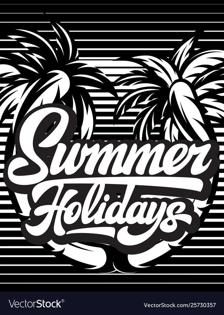 Poster template for summer party with