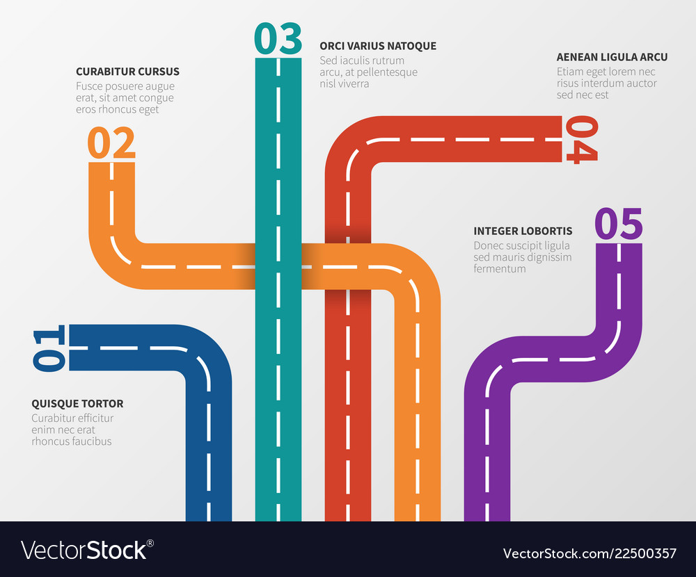 Road infographic option diagram process chart