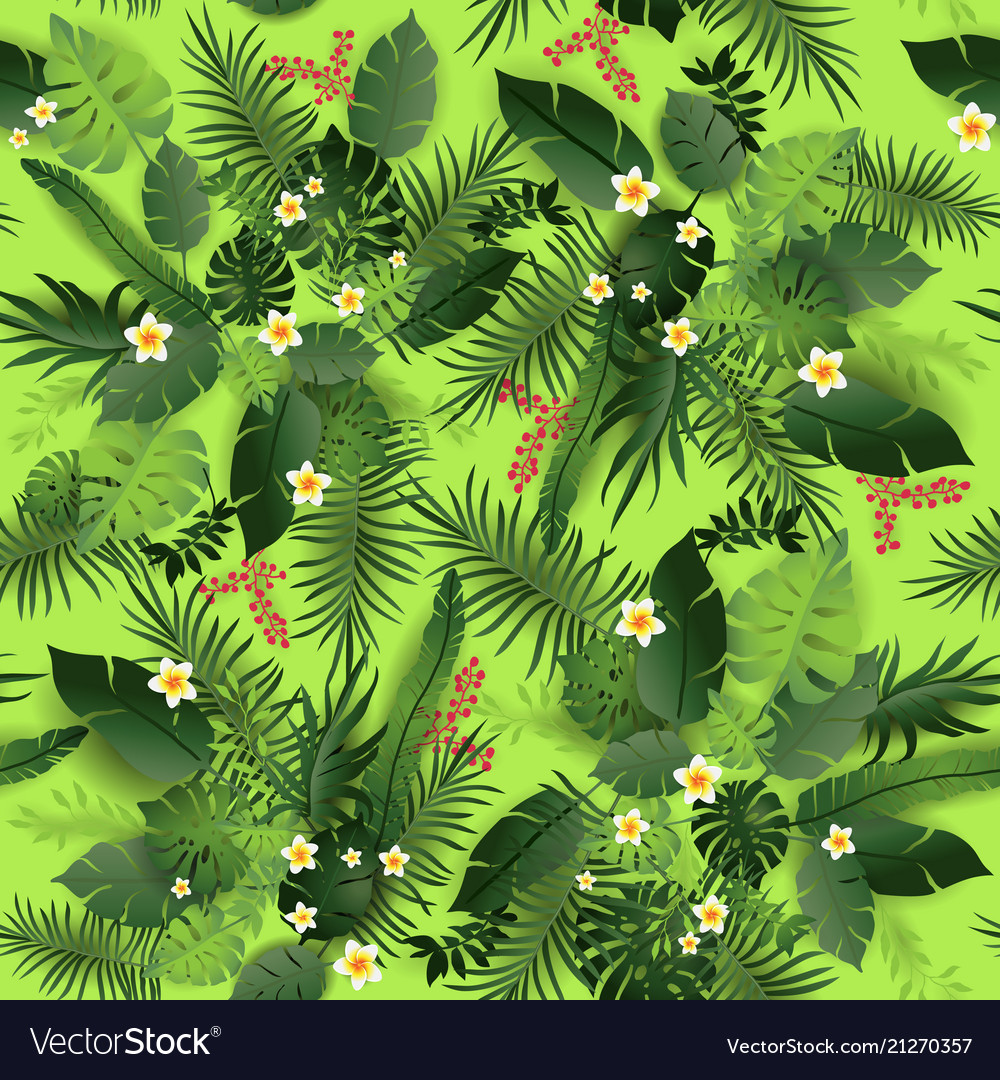 Seamless pattern greeners vector