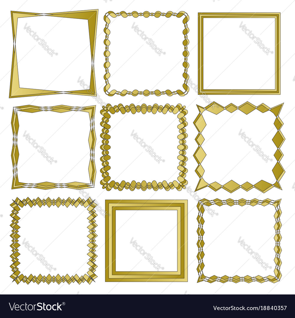 Set of frames isolated on white background in