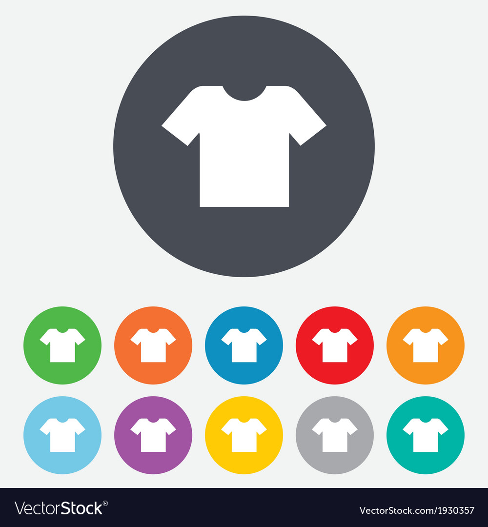 T-shirt sign icon Clothes symbol