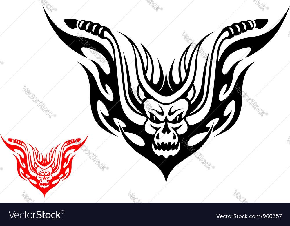 Tribal biker motorcycle tattoo