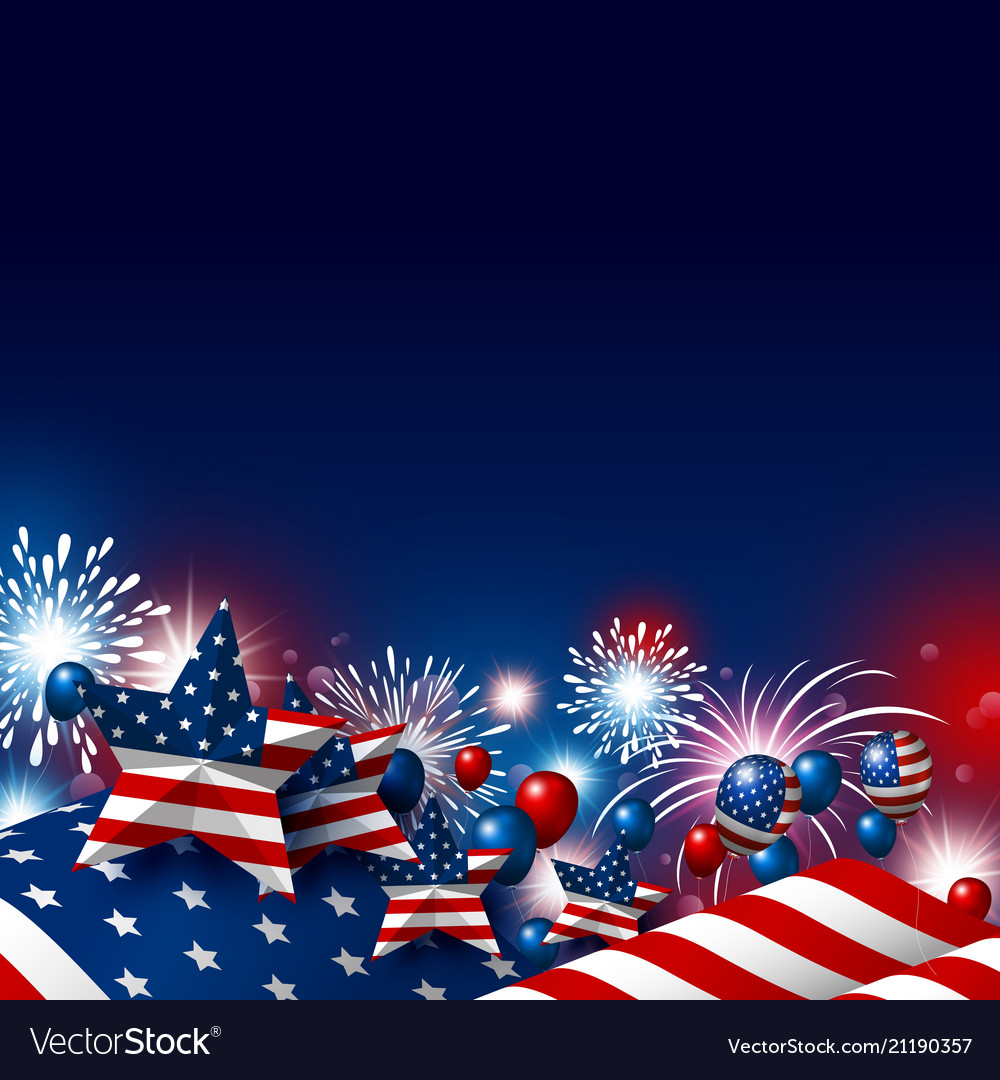 Usa 4th july happy independence day design